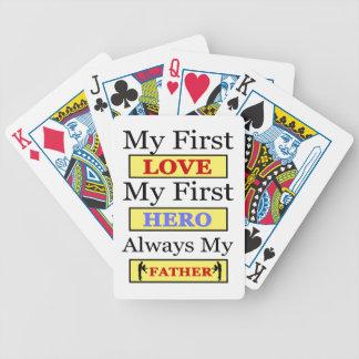 My First Love My First Hero Always My Dad Poker Deck