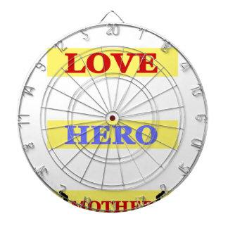 My First Love My First Hero Always My Mother Dart Board