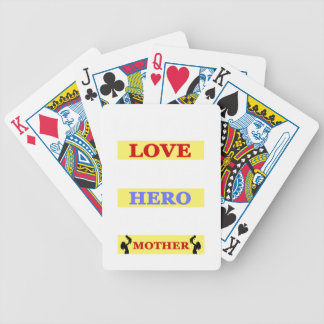 My First Love My First Hero Always My Mother Poker Deck