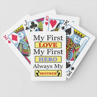 My First Love My First Hero Always My Mother Poker Deck