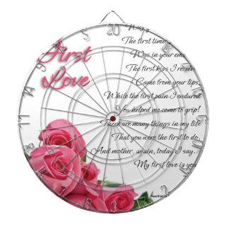 My First Love Poem Dartboard