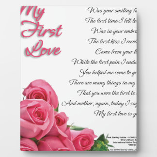 My First Love Poem Plaque