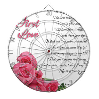 My First Love Poetry Art By Stanley Mathis Dartboard