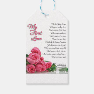 My First Love Poetry Art By Stanley Mathis Gift Tags