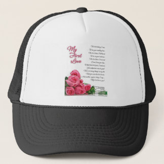 My First Love Poetry Art By Stanley Mathis Trucker Hat