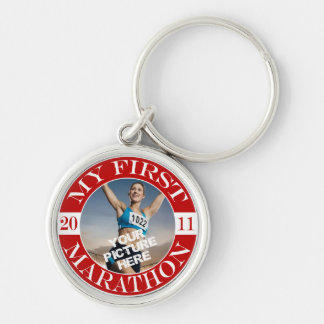 My First Marathon - 2011 Silver-Colored Round Key Ring