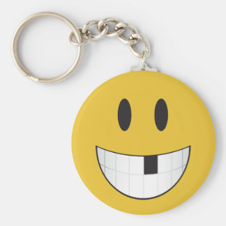 My first missing tooth emoji key ring