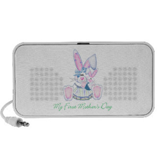 My First Mother's Day (bunny) iPhone Speaker