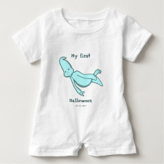 My First Personalised Halloween Turquoise Baby Bodysuit