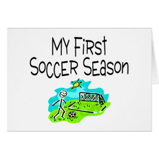 My First Soccer Season Stick Figures Card