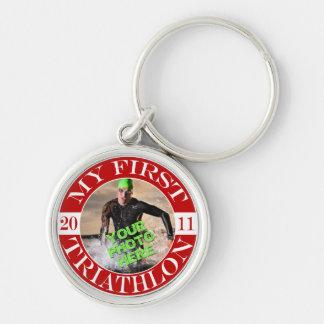 I Tri D Triathlon Key Ring