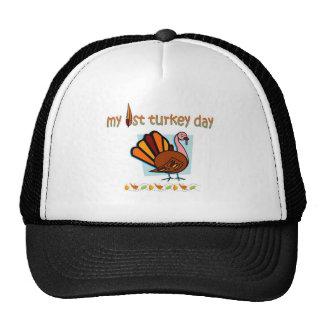 my first turkey day boys cap