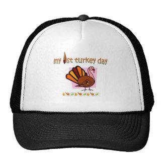 my first turkey day girls cap