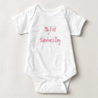My First Valentine's Day-Baby-Creeper Tee Shirt