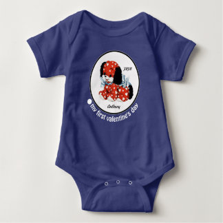 My First Valentine's Day. Baby Gift Bodysuits