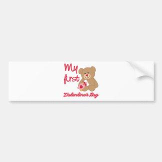 My First Valentine's Day Bumper Sticker