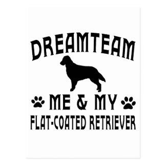 My Flat-Coated Retriever Dog Postcard