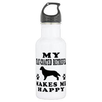 My Flat-Coated Retriever Makes Me Happy 532 Ml Water Bottle
