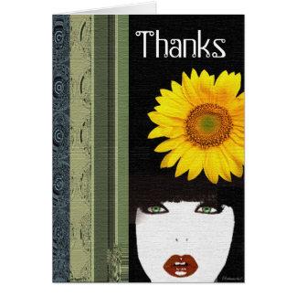 My Flower Hat Card