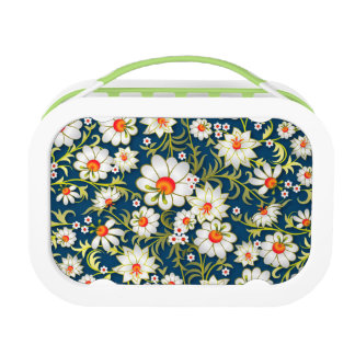My Flowers On Blue Lunchbox