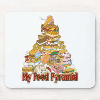 My Food Pyramid ~ Junk Food Snacks Mouse Pad