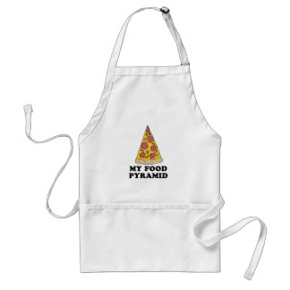 My Food Pyramid Pizza Cartoon Apron