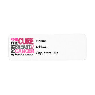 My Friend Is Waiting Breast Cancer Return Address Label