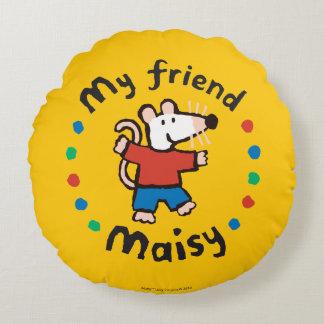 My Friend Maisy Colorful Circle Design Round Cushion