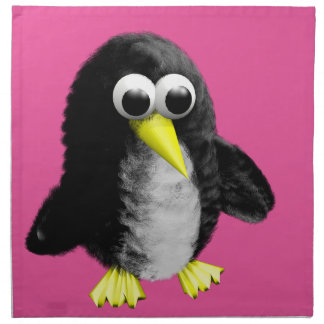 My friend the penguin printed napkin