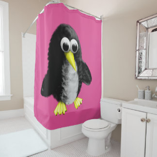 My friend the penguin shower curtain