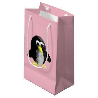 My friend the penguin small gift bag