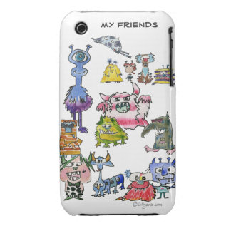 My Friends are Cartoon Monsters iPhone 3 Cover