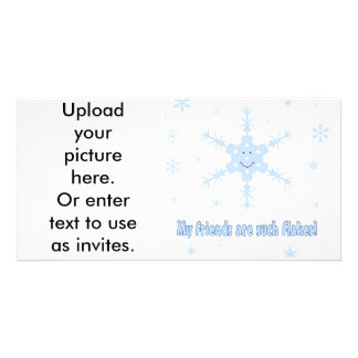 My friends are flakes! Funny snowflake t-shirts Photo Card