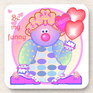 My Funny Valentine Clown Beverage Coaster