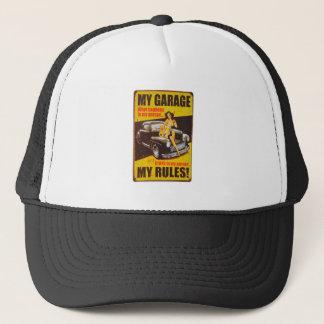 My Garage My Rules by RetroCharms Trucker Hat