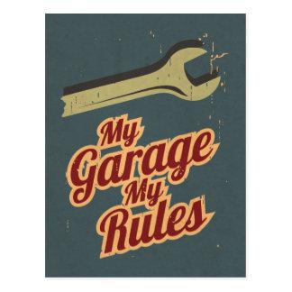 My Garage My Rules Postcard