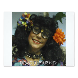 MY GIRL FRIEND 11 CM X 14 CM INVITATION CARD