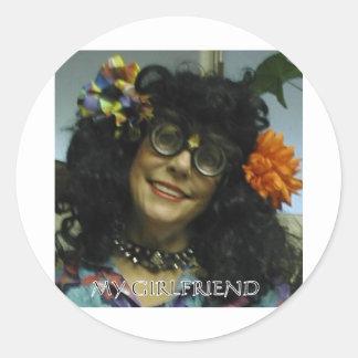 MY GIRL FRIEND ROUND STICKER
