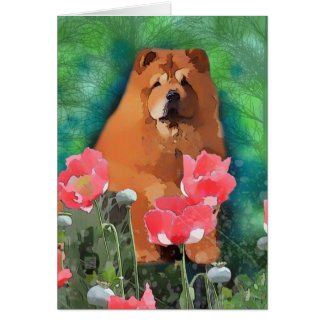 "My Girl "" Sassy the beautiful Chow"" Card"