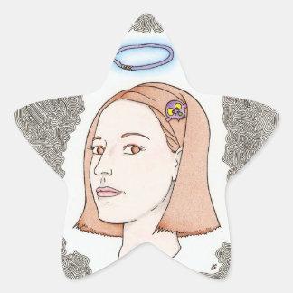 my girl star sticker