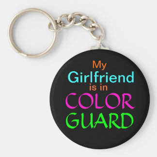 My Girlfriend is in Color Guard Basic Round Button Key Ring
