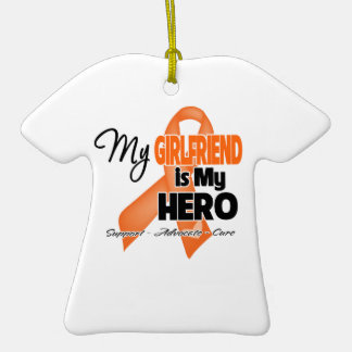 My Girlfriend is My Hero - Leukemia Ornament
