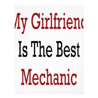 My Girlfriend Is The Best Mechanic Flyer Design