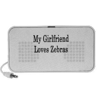 My Girlfriend Loves Zebras Notebook Speaker