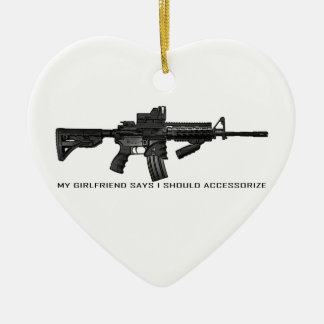 My Girlfriend Says I Should Accessorize AR15 Ceramic Heart Decoration