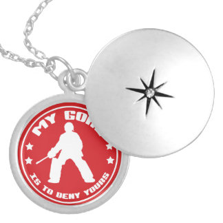 My Goal, Field Hockey Goalie Quote Necklace