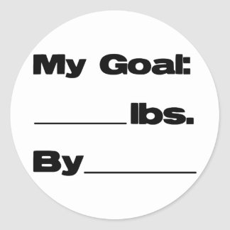 My Goal in Pounds Classic Round Sticker