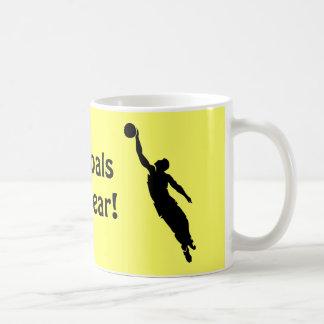 My goals are clear! basic white mug