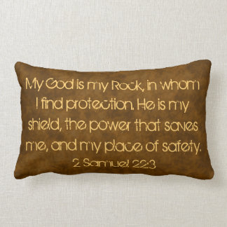 My God is my rock bible verse pillow
