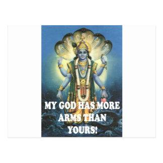 my god postcard